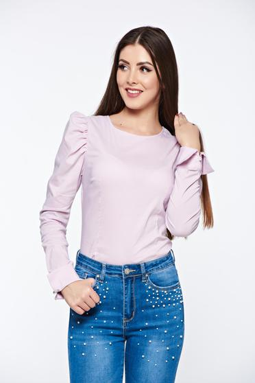 Artista rosa women`s shirt elastic cotton with tented cut