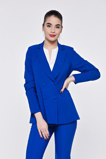 Artista blue jacket office from non elastic fabric with inside lining with straight cut