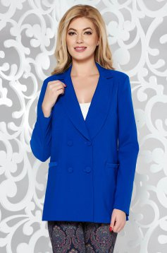 Artista blue jacket office from non elastic fabric with inside lining