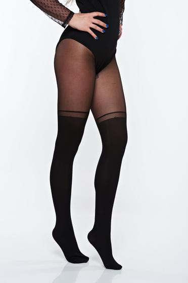Black women`s tights from elastic fabric with elastic waist