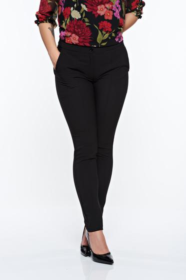 LaDonna black trousers office conical slightly elastic fabric with medium waist