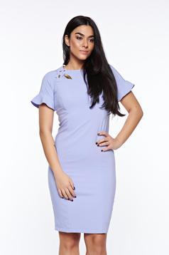 LaDonna lila dress elegant handmade applications with inside lining