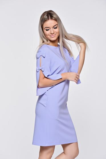 LaDonna lila dress elegant with easy cut slightly elastic fabric