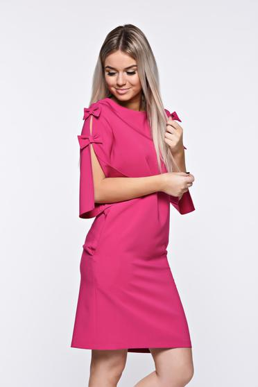 LaDonna pink dress elegant with easy cut slightly elastic fabric