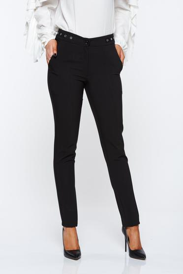 LaDonna black trousers office conical with medium waist slightly elastic fabric