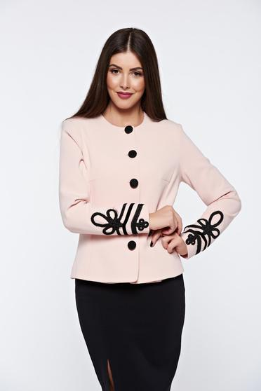LaDonna rosa jacket elegant manual sewed embroidery with inside lining