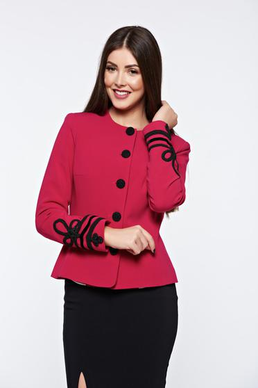 LaDonna pink jacket elegant manual sewed embroidery with inside lining