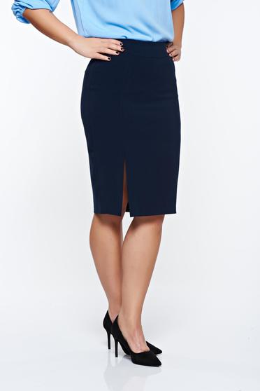 LaDonna darkblue skirt office with inside lining slightly elastic fabric