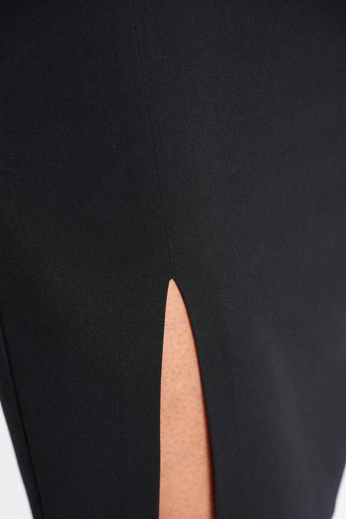 Fusta LaDonna neagra office din stofa usor elastica captusita pe interior