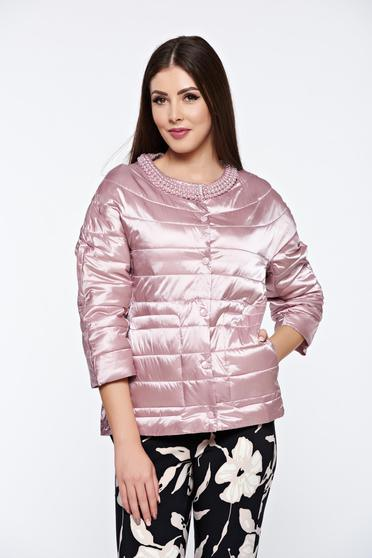 Rosa jacket casual from slicker with pockets with pearls