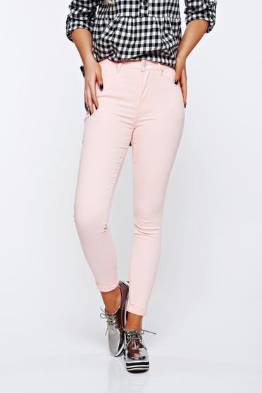 Lightpink jeans casual cotton high waisted skinny jeans