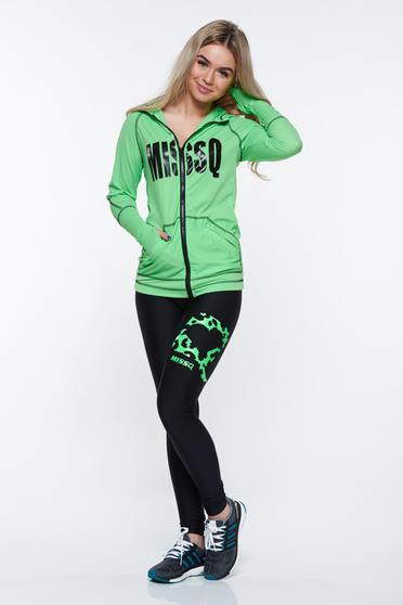 MissQ green set sporty from elastic fabric with pockets