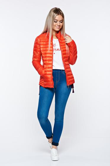 Top Secret red jacket casual from slicker with pockets