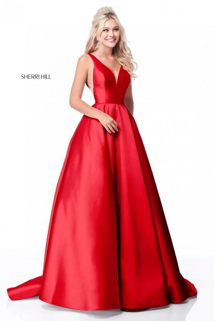Sherri Hill 51856 Red Dress
