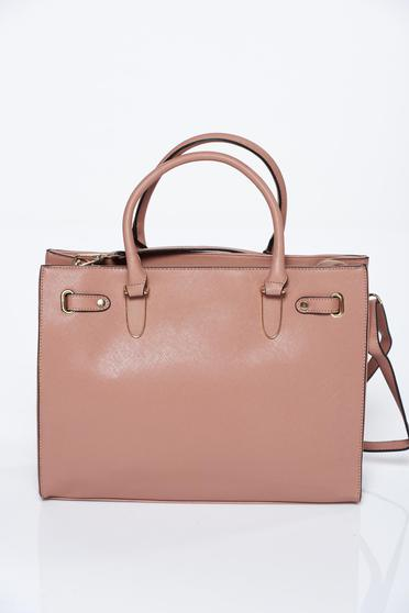 Nude bag office from ecological leather