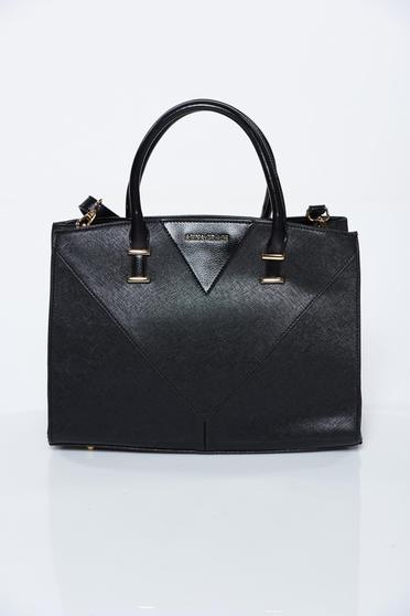 Black bag office from ecological leather