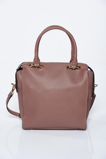 Brown bag casual from ecological leather