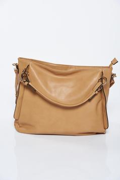 Brown casual bag from ecological leather