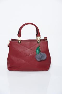 Burgundy office bag from ecological leather