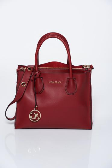 Burgundy bag office from ecological leather