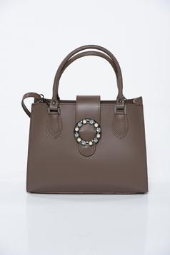 Brown office bag natural leather