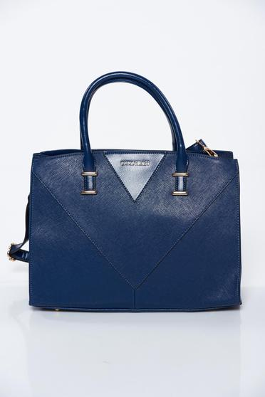 Blue bag office from ecological leather
