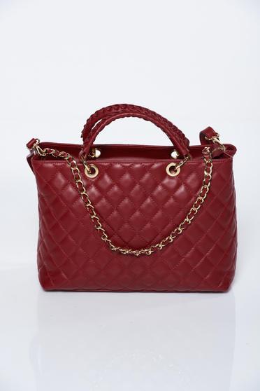 Burgundy bag office natural leather