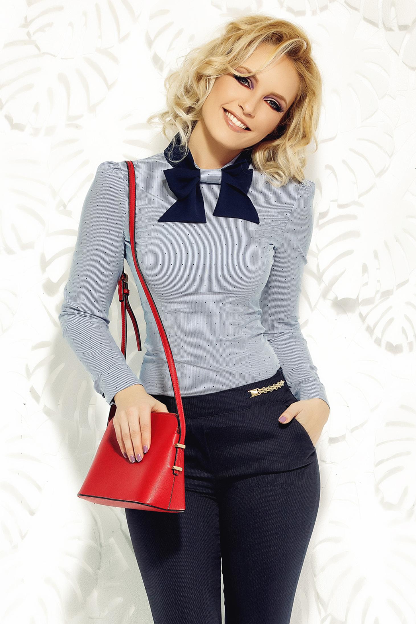 2cbda836a6 Világoskék Fofy női ing irodai rugalmas pamut karcsusított szabás