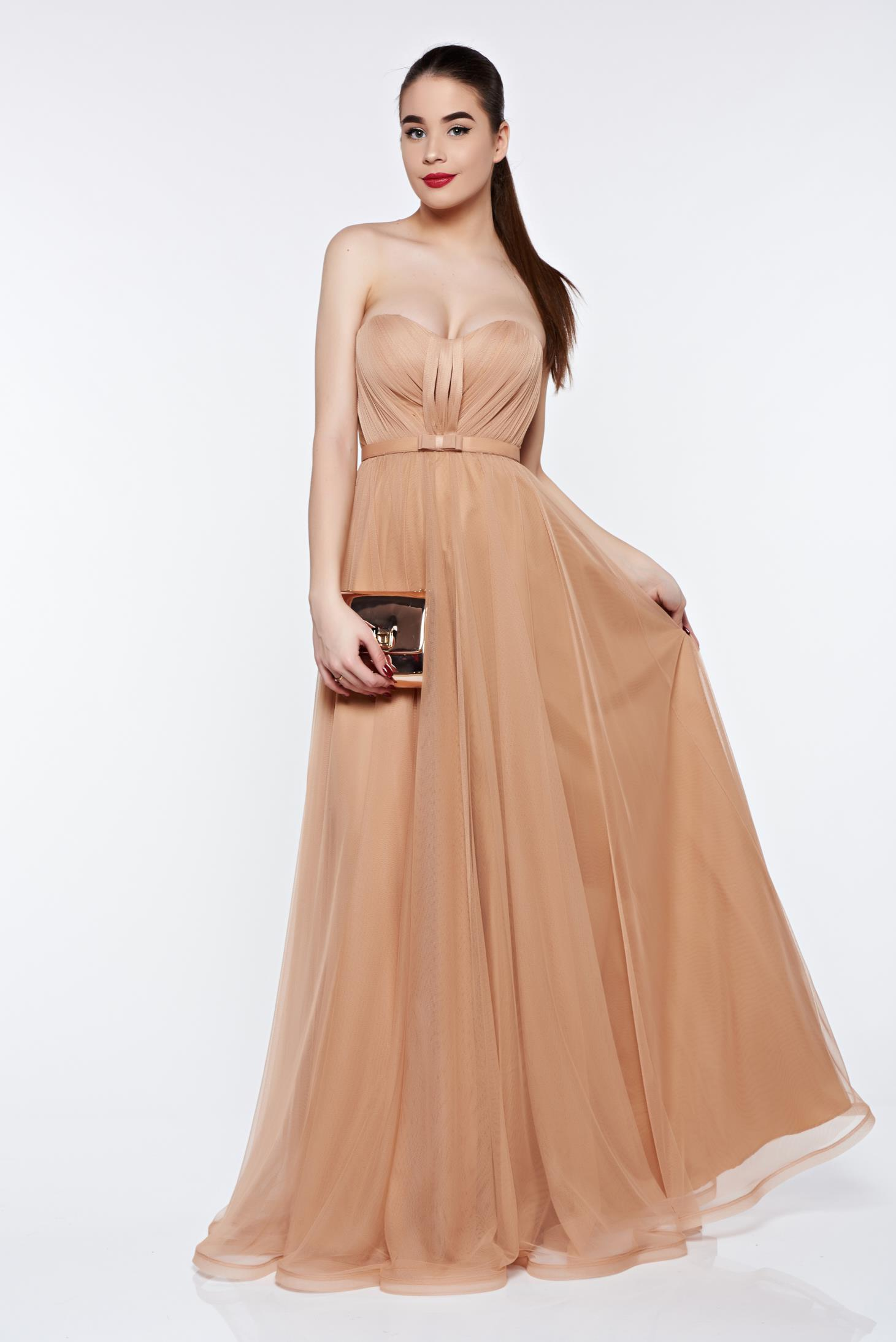 Ana Radu cream dress with push-up cups from tulle luxurious