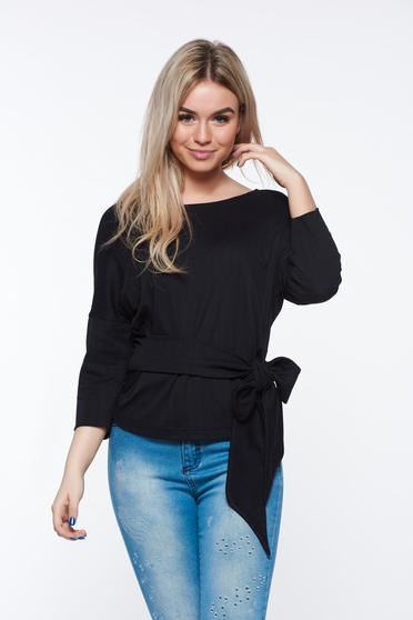 StarShinerS black women`s blouse casual flared 3/4 sleeve