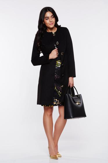 LaDonna black trenchcoat elegant with inside lining with pockets