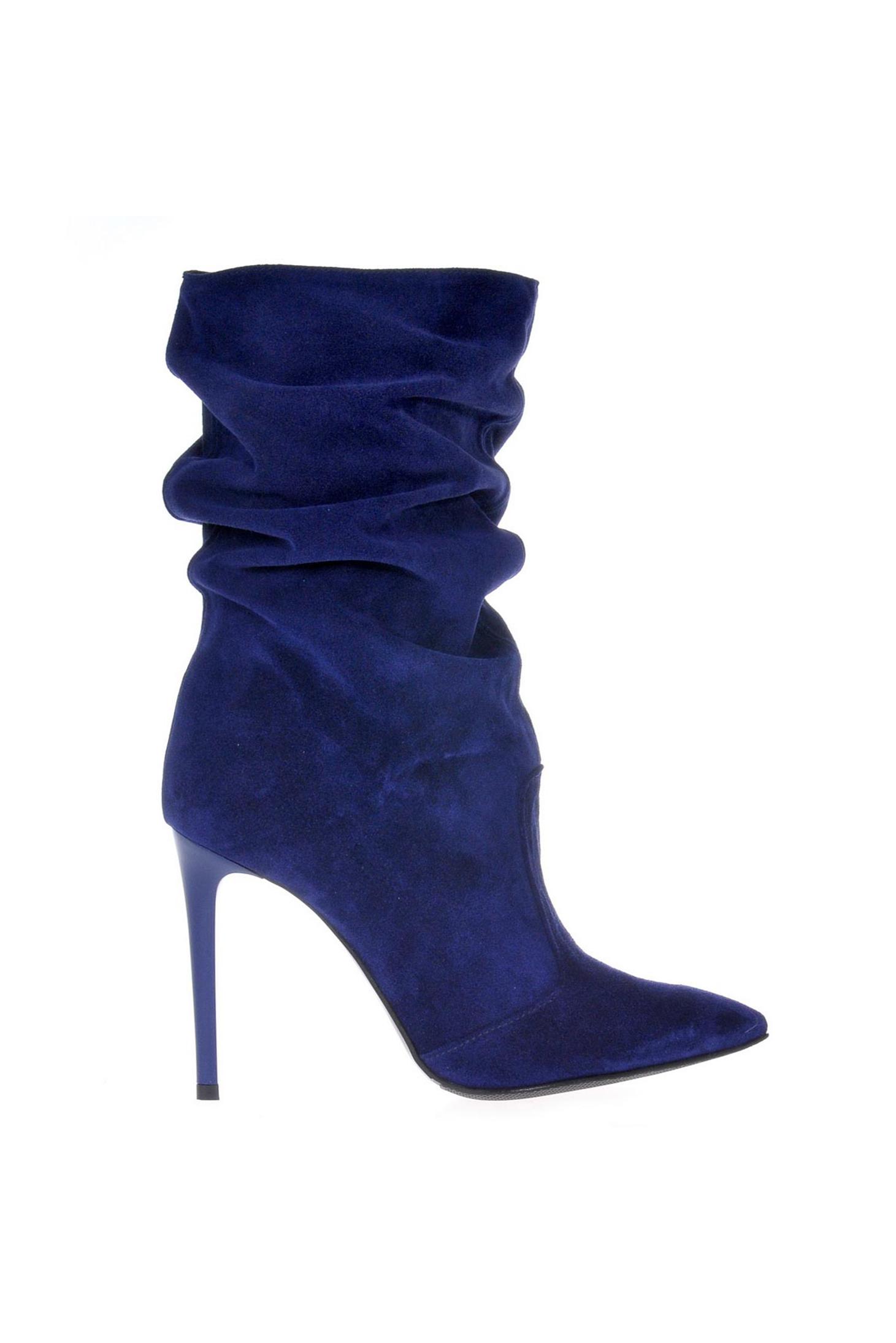 Kék magassarkú csizma be5641e1a8