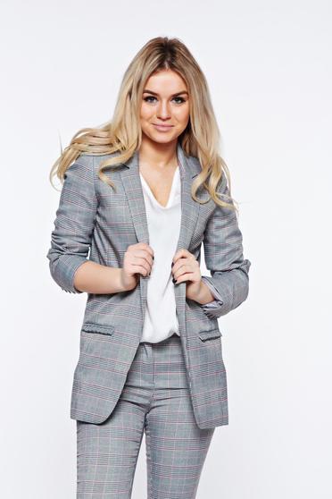 Top Secret grey jacket office with inside lining slightly elastic fabric