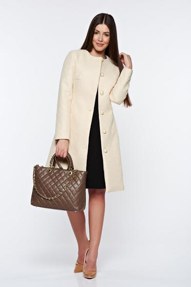 LaDonna nude trenchcoat elegant with inside lining with pockets