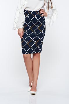 LaDonna darkblue skirt office pencil high waisted soft fabric
