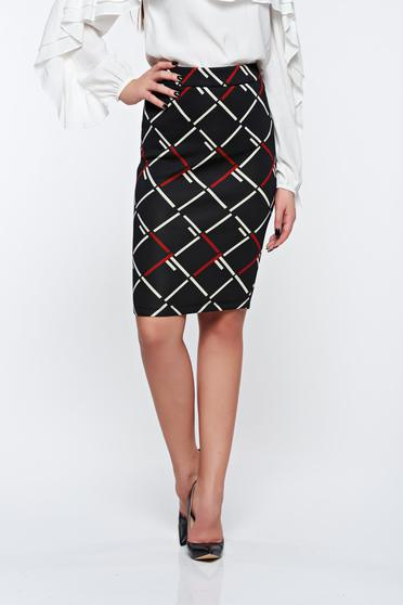 LaDonna black skirt office pencil high waisted soft fabric