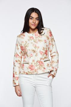 LaDonna nude jacket with inside lining elegant tented with faux pockets
