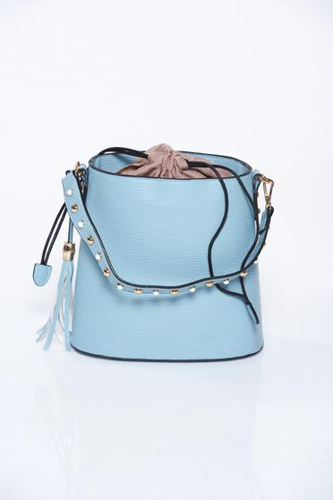 Blue bag casual from ecological leather
