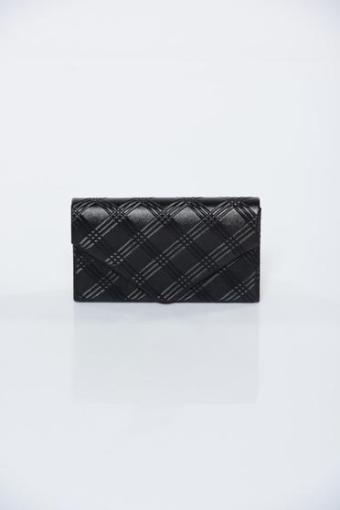 Black bag elegant clutch long chain handle