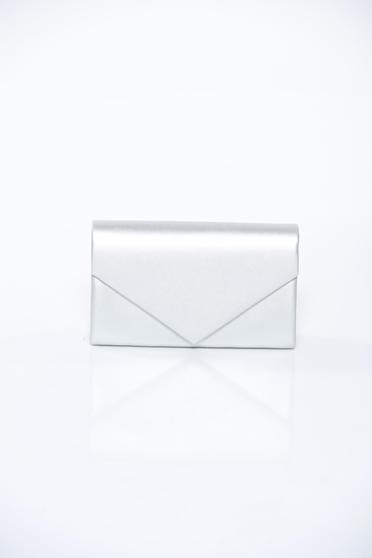 Silver bag clutch long chain handle elegant