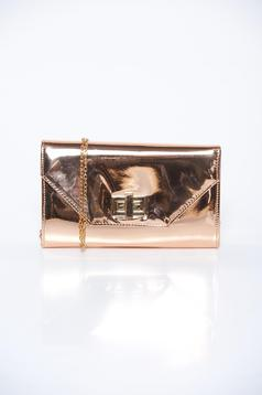 Gold bag elegant clutch from shiny fabric