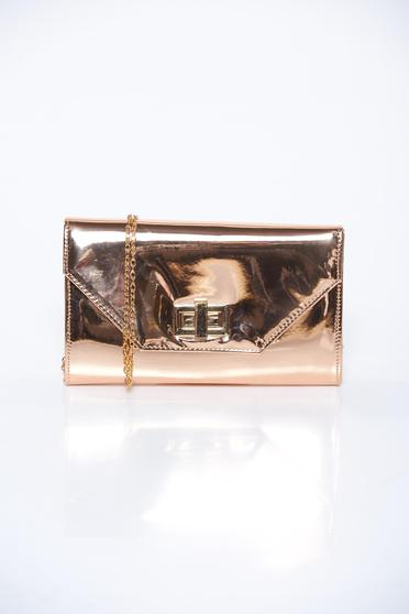 Lightpink bag elegant clutch from shiny fabric