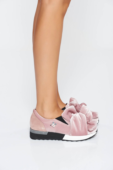 MissQ rosa sneakers casual velvet insole material: leather light sole