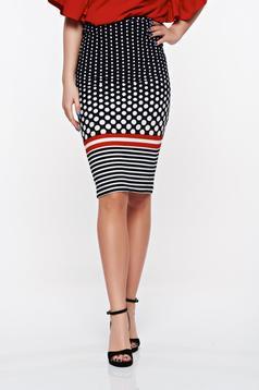 StarShinerS black skirt office pencil with medium waist from elastic fabric