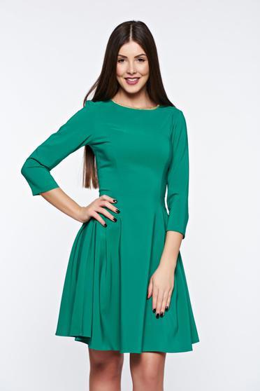 LaDonna green dress elegant from elastic fabric cloche