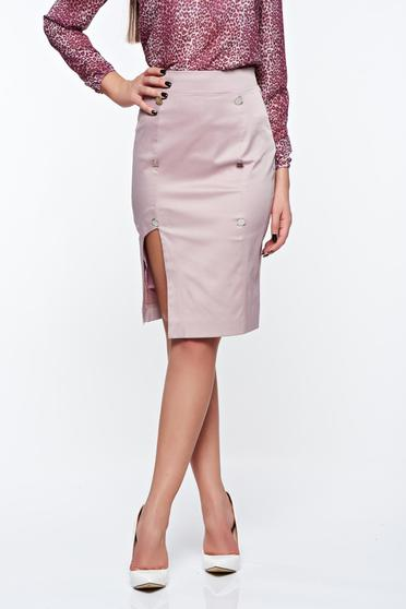 PrettyGirl lila skirt office with inside lining pencil high waisted