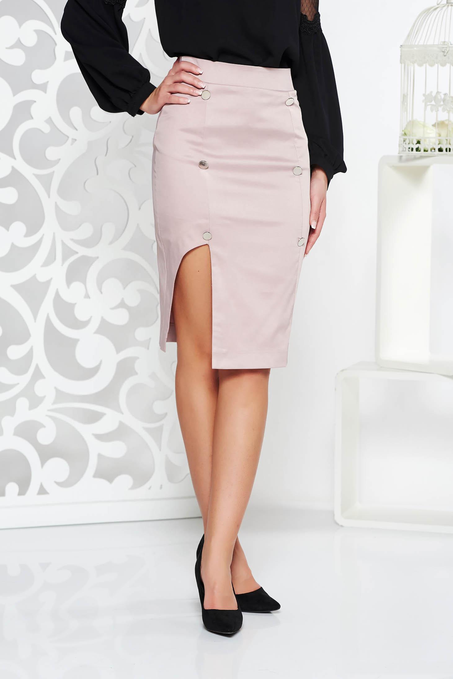 PrettyGirl lila skirt office with inside lining pencil high waisted