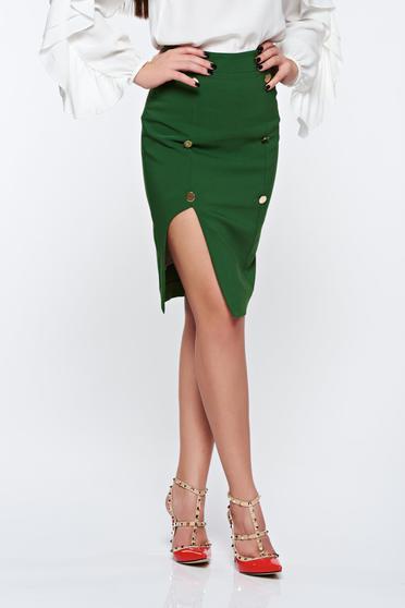 PrettyGirl darkgreen skirt office with inside lining pencil high waisted