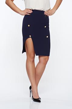 PrettyGirl darkblue skirt office with inside lining pencil high waisted