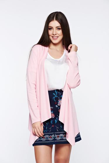 Rosa cardigan asymmetrical with easy cut long sleeved